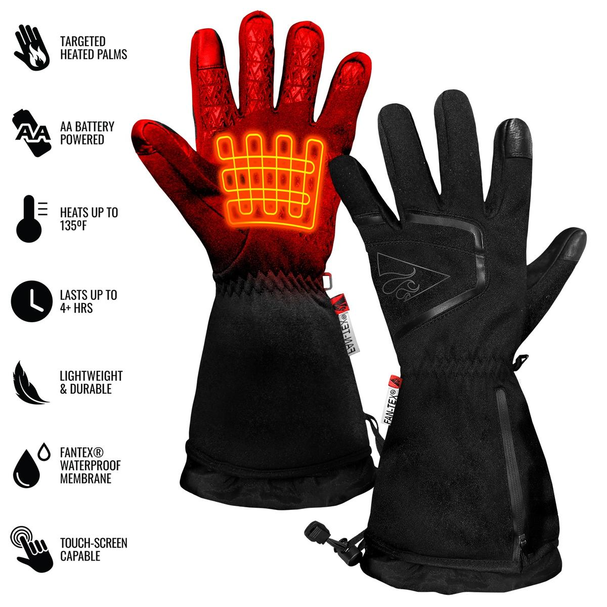 ActionHeat AA Women's Featherweight Heated Gloves - Back