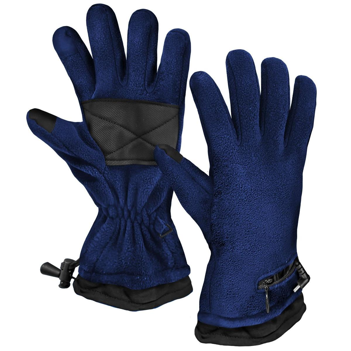 ActionHeat AA Battery Heated Fleece Gloves - Heated