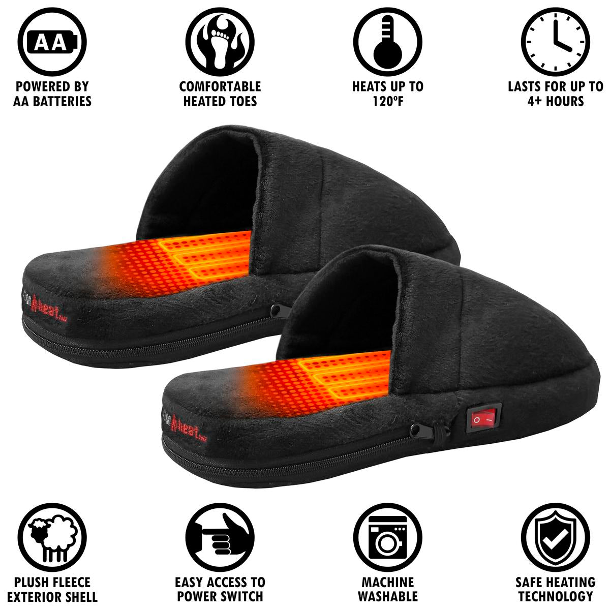 ActionHeat AA Battery Heated Slippers - Back
