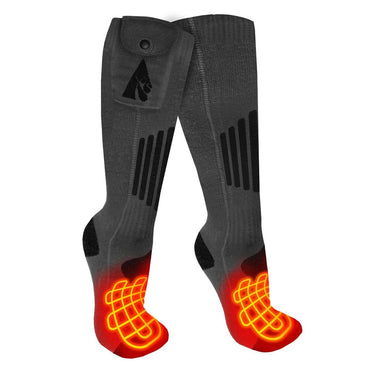 ActionHeat Wool 3.7V Rechargeable Heated Socks 2.0 - Replacement Socks Only - Back