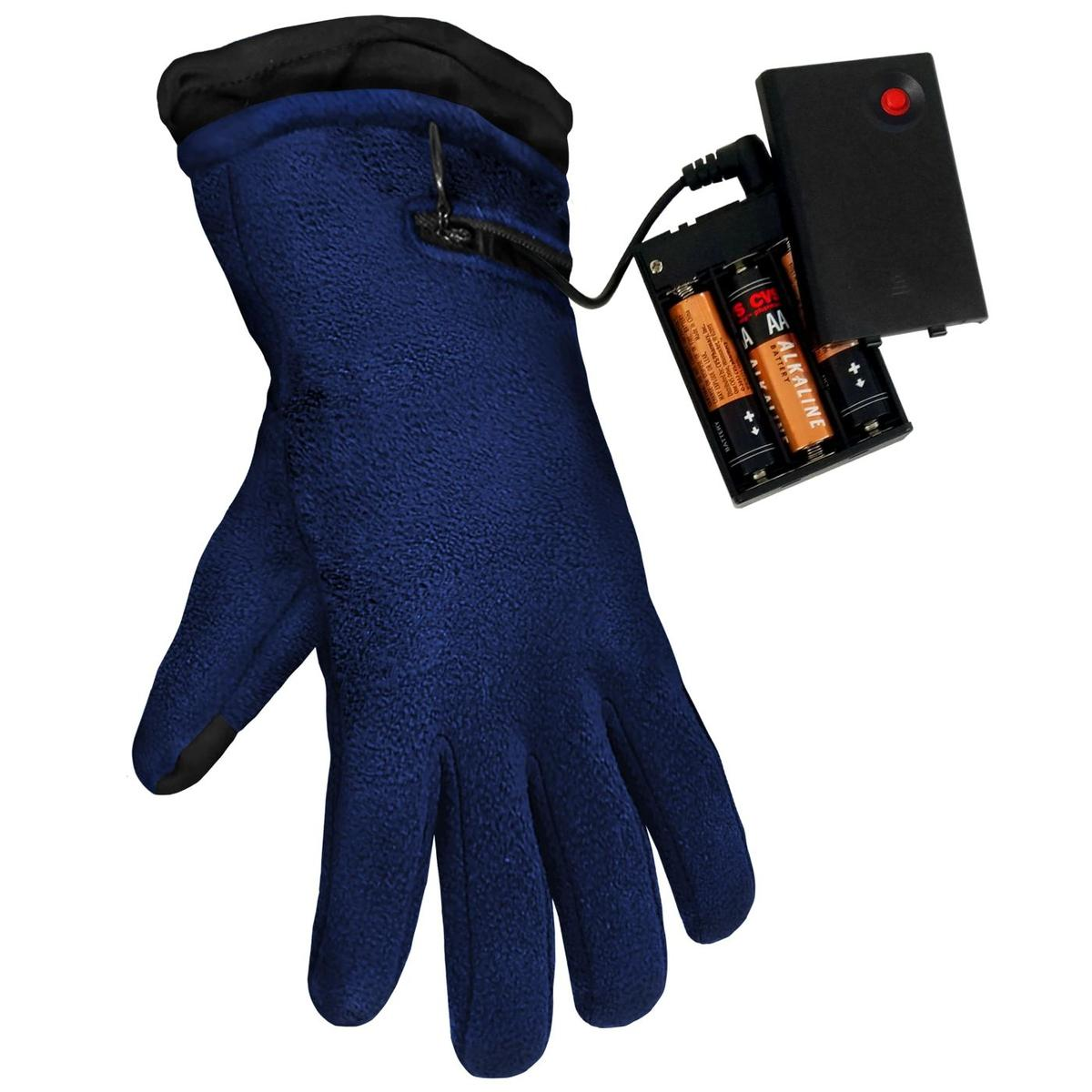 ActionHeat AA Battery Heated Fleece Gloves - Full Set