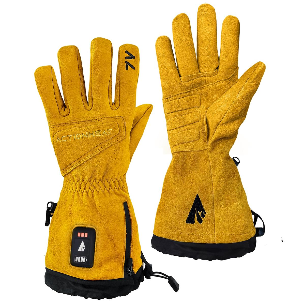 ActionHeat 7V Rugged Leather Heated Work Gloves - Heated
