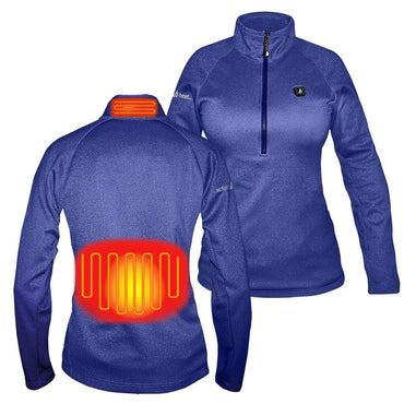 Open Box ActionHeat 5V Battery Heated 1/2 Zip Pullover Shirt - Women's - Front