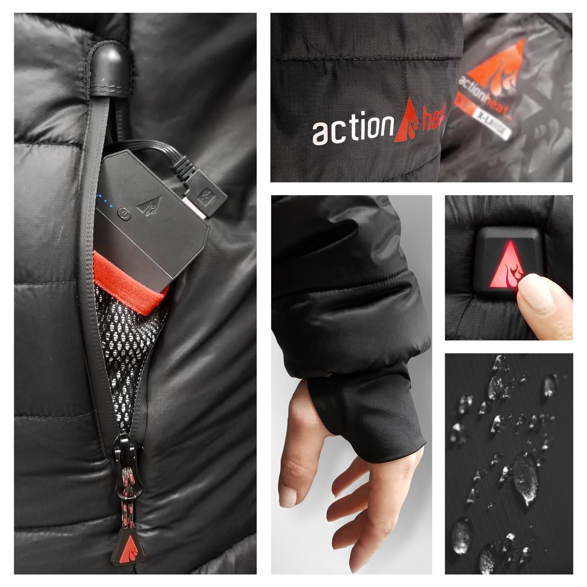ActionHeat 5V Heated Long Puffer Jacket W/ Hood - Women's - Full Set