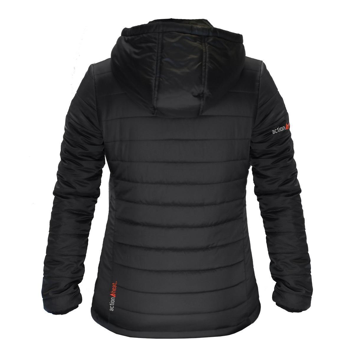 Open Box ActionHeat 5V Battery Heated Insulated Puffer Jacket W/ Hood - Women's - Info