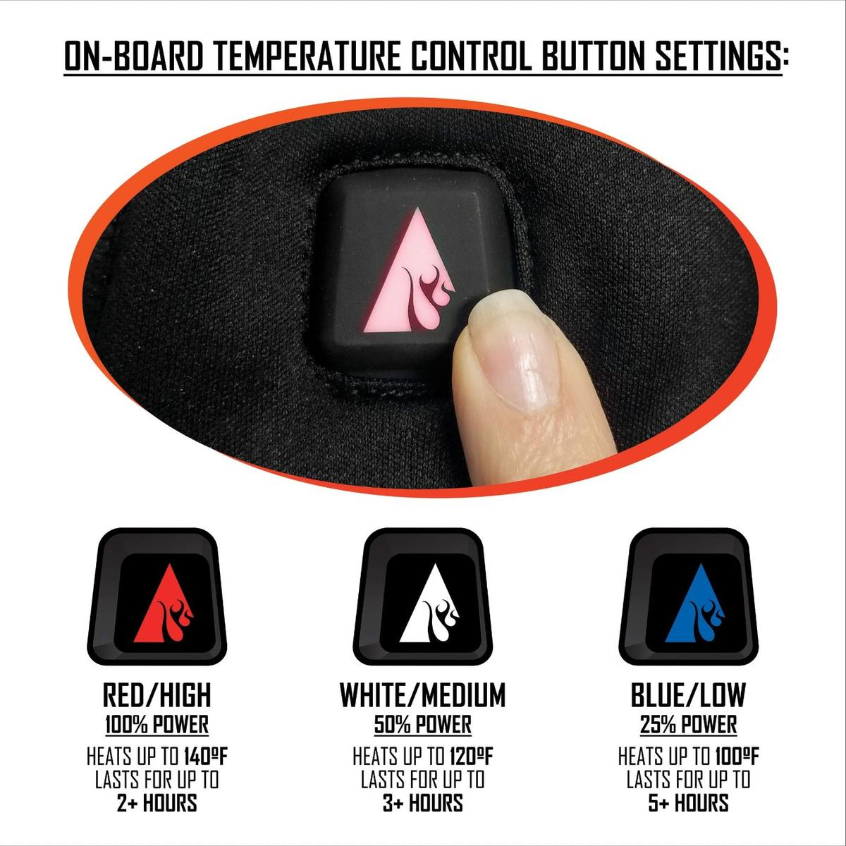 ActionHeat 5V Battery Heated Mittens - Size