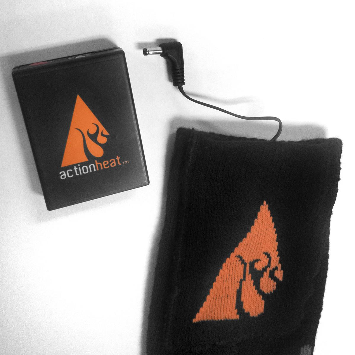 ActionHeat 3.7V Rechargeable Battery Heated Socks - Wool - Battery