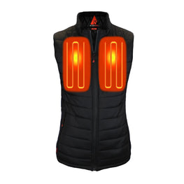 Open Box ActionHeat 5V Battery Heated Insulated Puffer Vest - Women's - Front