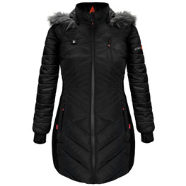ActionHeat 5V Heated Long Puffer Jacket W/ Hood - Women's - Heated