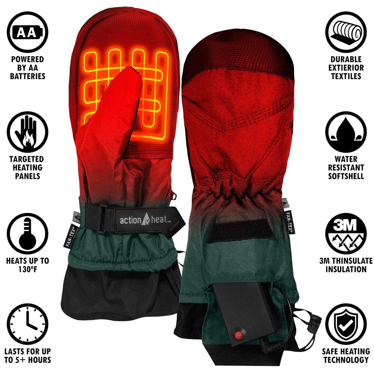 ActionHeat AA Battery Heated Mittens - Info
