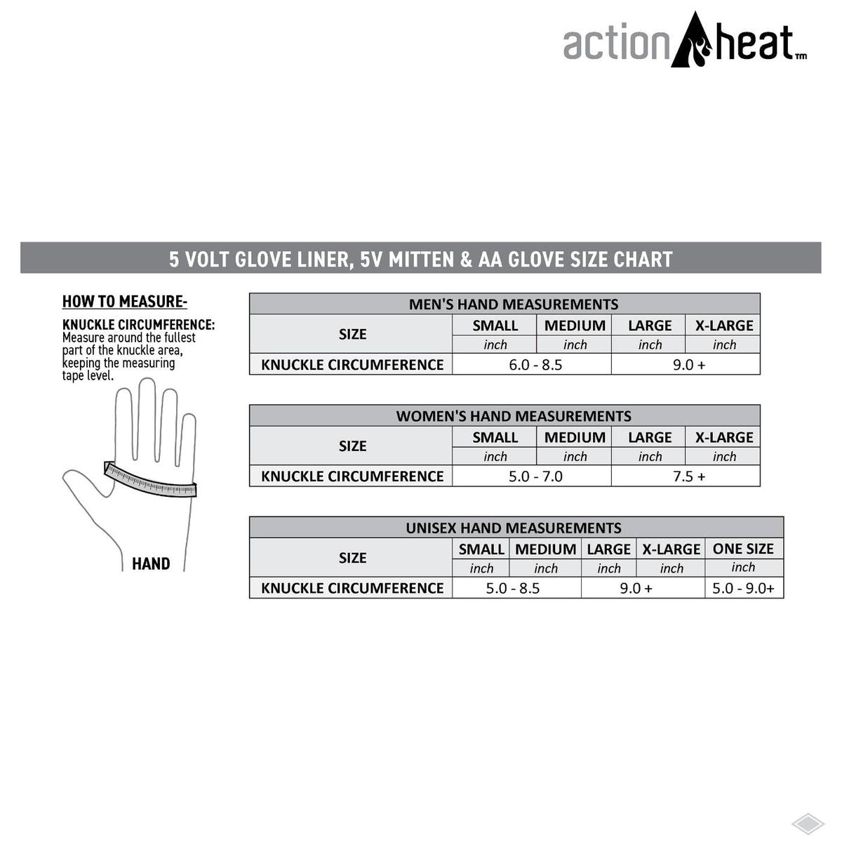 ActionHeat 5V Heated Glove Liners - Women's - Right