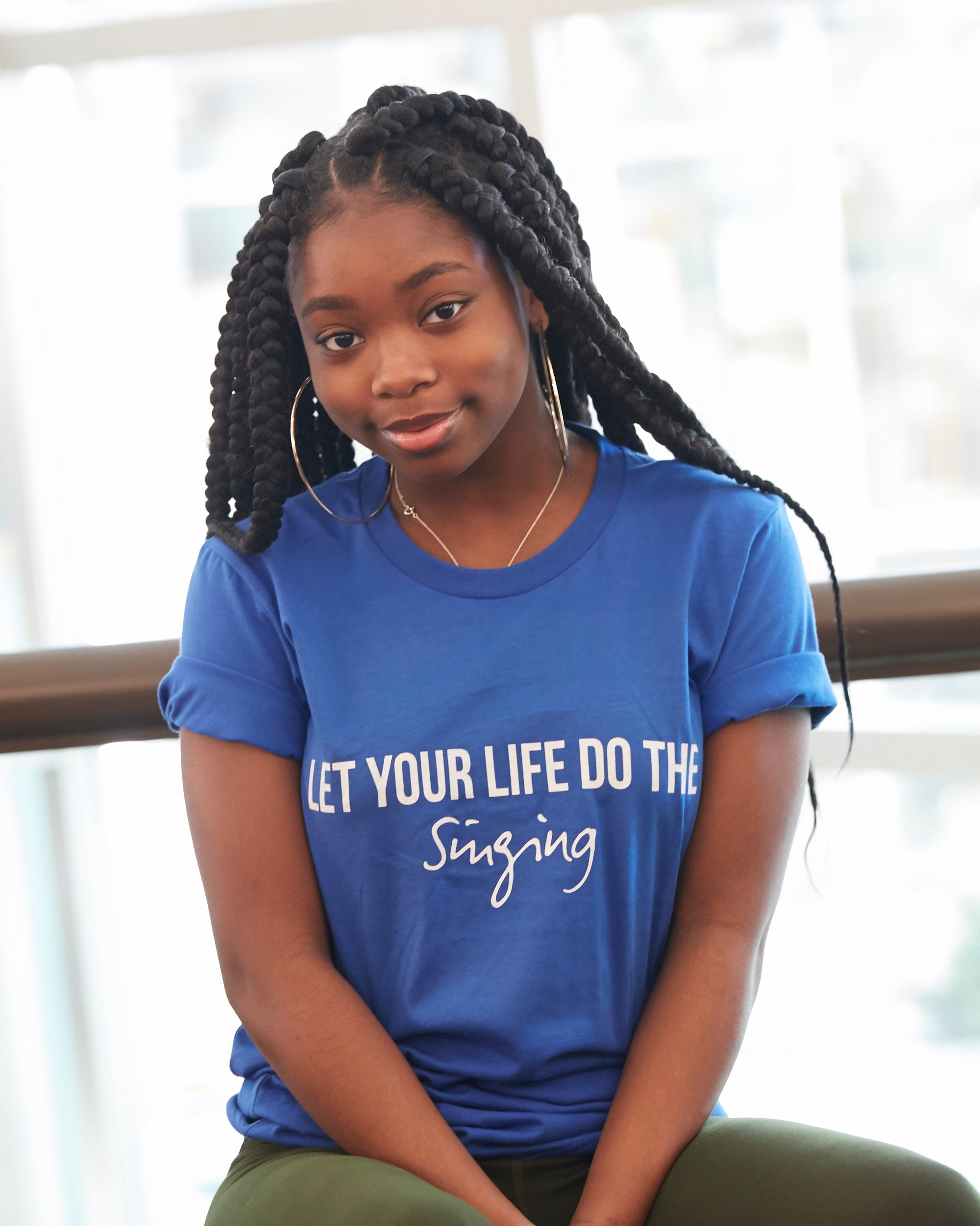 Let Your Life Do The Singing (Royal Blue & White)