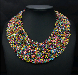 """Dorie"" Braided Necklace - Multi-Colored RESTOCKING SOON!"