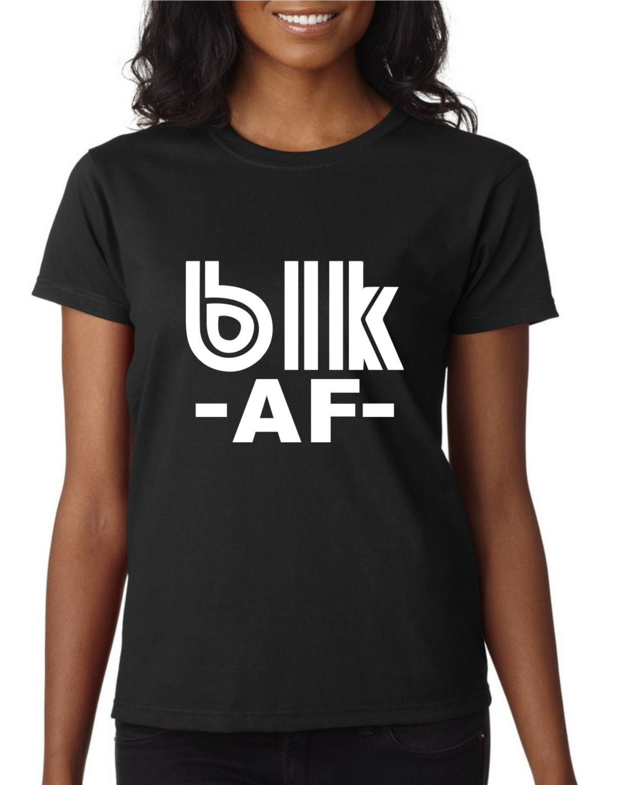 blk AF (Women Fitted Tee)