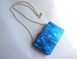 Limited Edition: Marble Blue Box Clutch