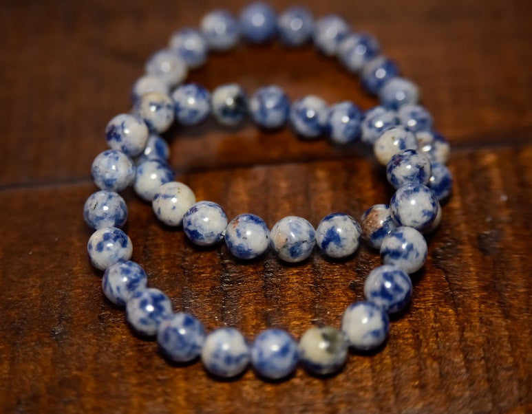 UNISEX Stackable Spiritual Beads (Marble Blue)