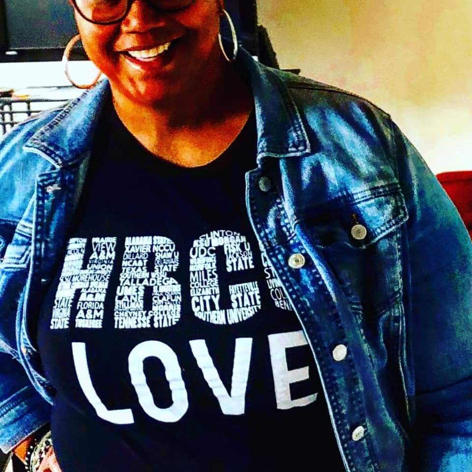 HBCU LOVE - Women's Fitted Tee