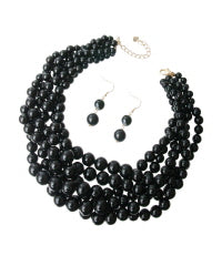 Twisted Onyx Pearls