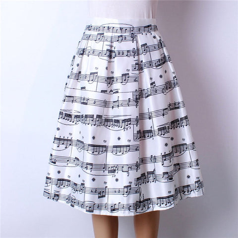 Music Notes Skirt - Merchant of the Universe