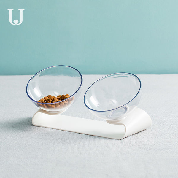 Futuristic Pet Double Bowl