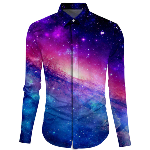 Galaxy Dress Shirt for Men