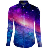 Galaxy Dress Shirt for Men - Merchant of the Universe