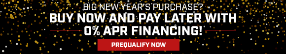 Buy now and pay later with 0% apr financing!
