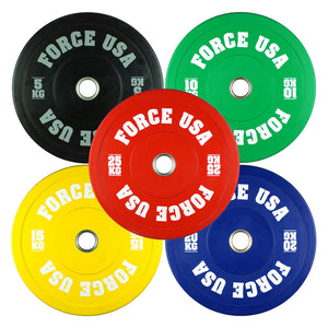 Force USA Pro Grade Colored Bumper Plates - KG