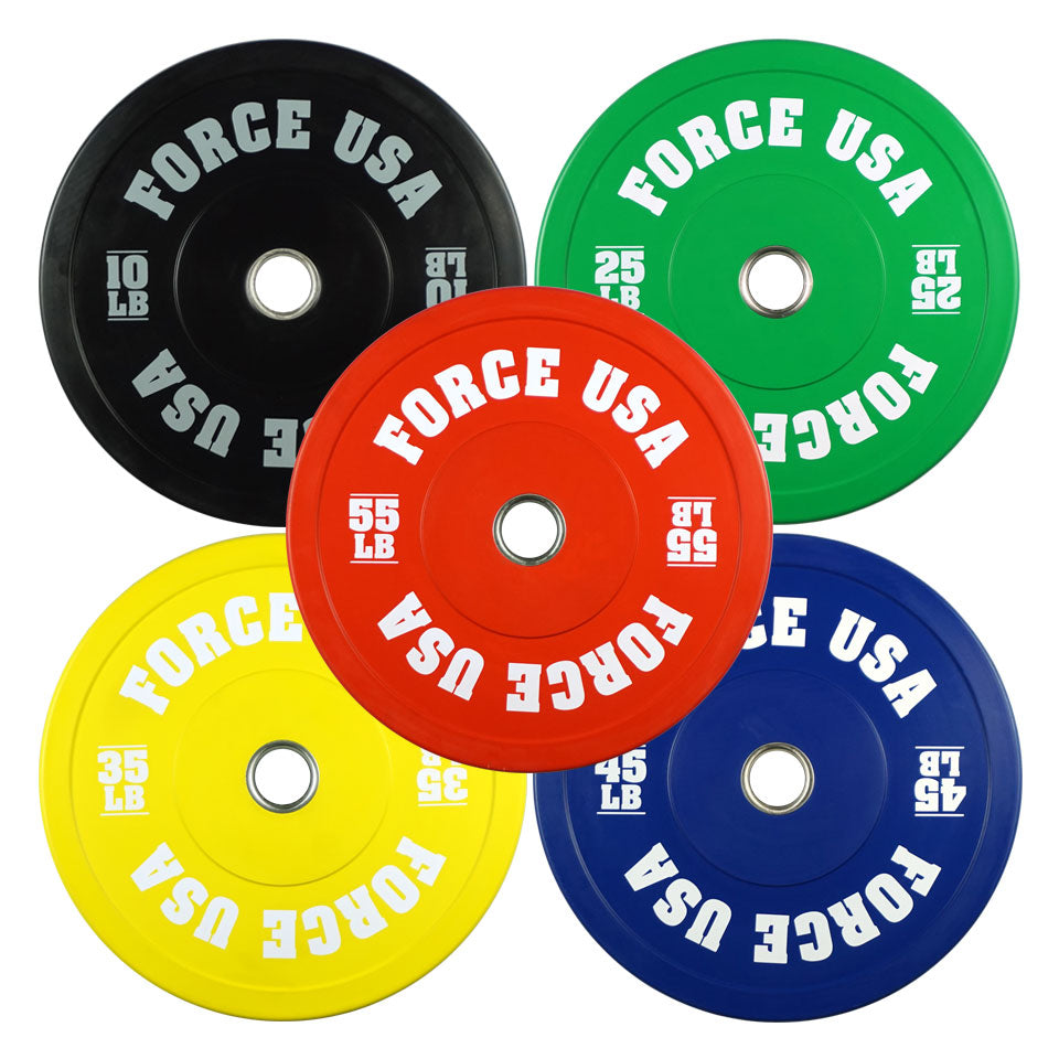 Force USA Pro Grade Colored Bumper Plates - LBS
