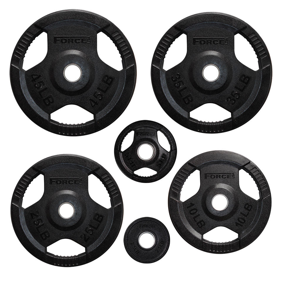 Force USA Rubber Coated Olympic Weight Plates - LBS