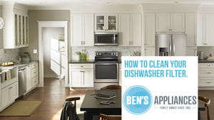How to clean your Whirlpool or Kitchenaid Dishwasher Filter