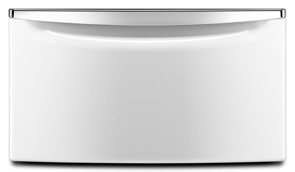 Pedestal - 2.3 Cf Storage Draw With Chrome Pedestal Base - White with Chrome