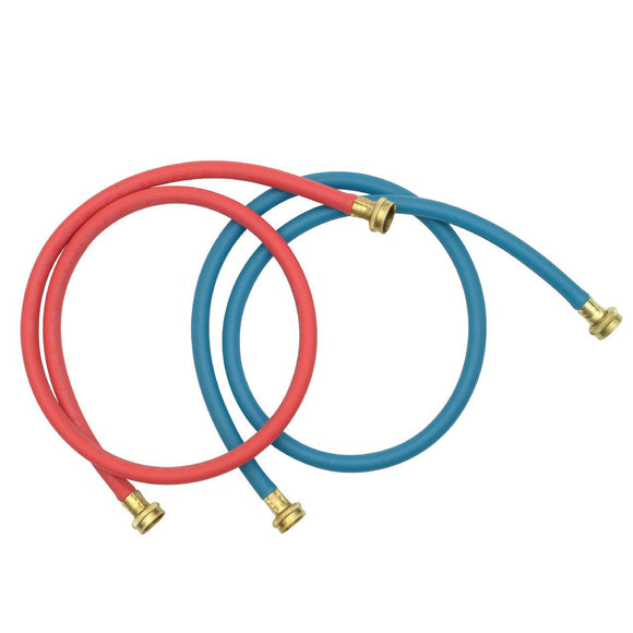 5'L Washer Hose Red & Blue Brass Couplings Washer Hose