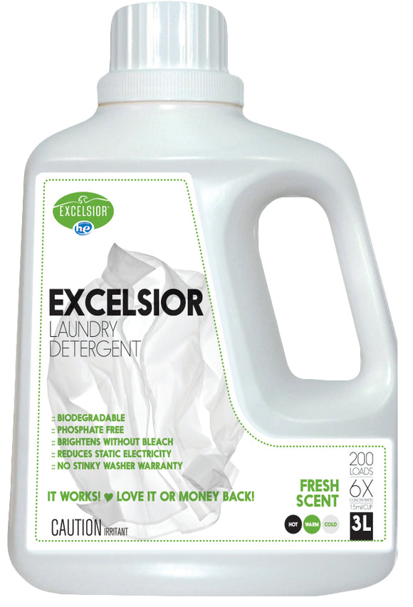 Excelsior HE Laundry Detergent 200 Loads Fresh Scent