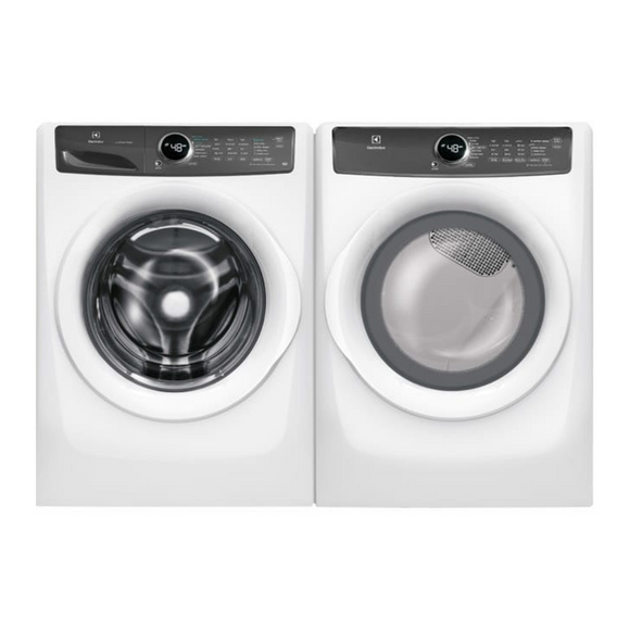 Electrolux Front Load Steam Pair 5.0 Cu Ft White featuring 20 Minute Fast Wash