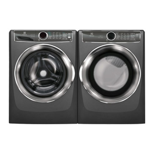 Electrolux Front Load Steam Pair 5.1 Cu Ft Titanium featuring 15 Minute Fast Wash