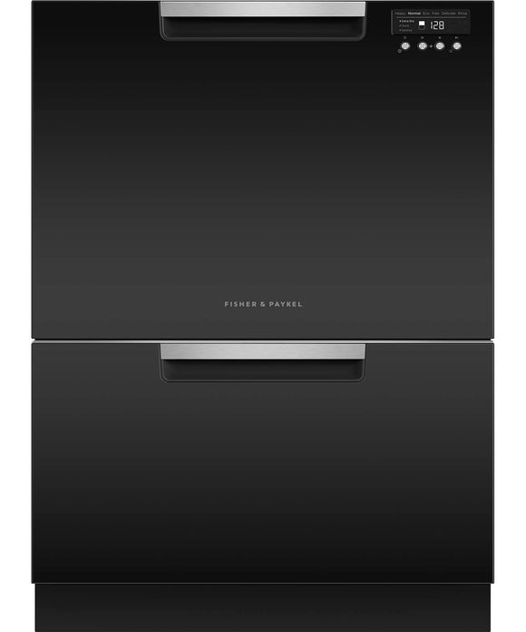 Fisher & Paykel Double Dish Drawer 14 Place Settings - Tall Black