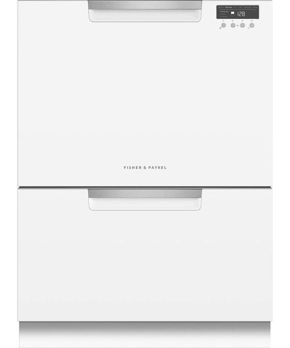 Fisher & Paykel Double DishDrawer™, 14 Place Settings, Sanitize (Tall) White