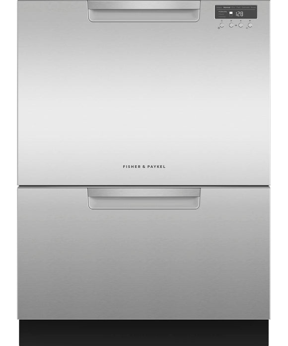 Fisher & Paykel Double Dish Drawer 14 Place Settings - Tall EZKleen Stainless Steel