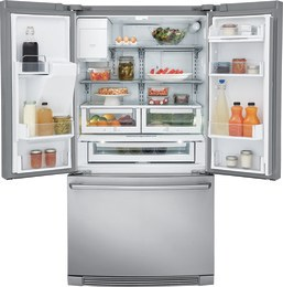 Counter-Depth French Door Refrigerator with Wave Touch Controls