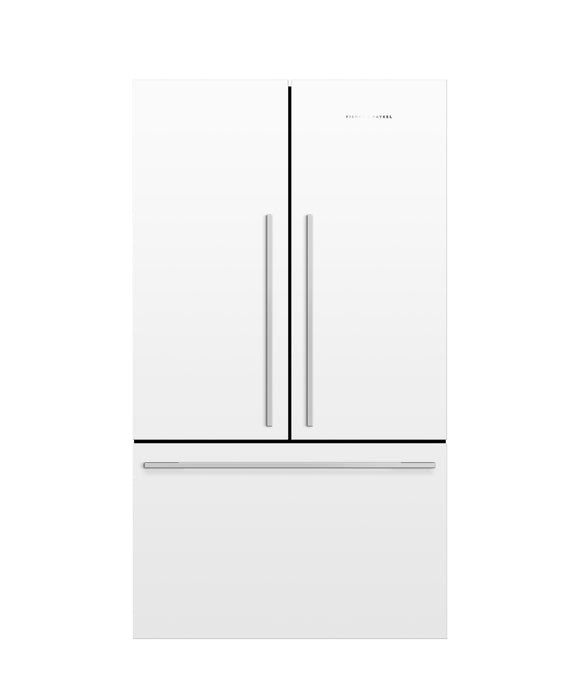 Fisher & Paykel 20 cu ft Counter Depth French Door Refrigerator White