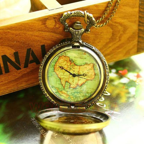 Luxury Hollow Bronze Zodiac Case With Australia Map