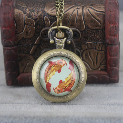 Retro Mystical Design Pocketwatch Pendant
