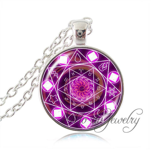 Zodiac Wheel Pendant Different Colors Inside,  - Zodiac Jewelry Store
