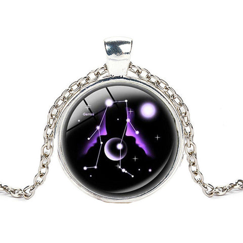 [50% OFF] Glass Marble Zodiac Constellation pendant,  - Zodiac Jewelry Store