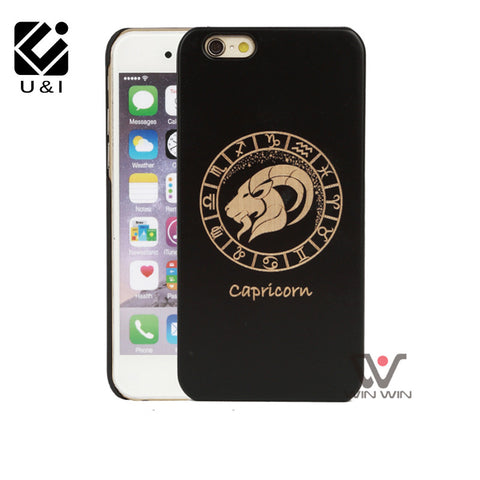 Real Black Wood iPhone Cases For iphone 5 5s 6 6s 6plus 7 7plus Cover,  - Zodiac Jewelry Store