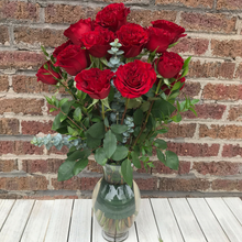 Long Stem Roses - Red & Chocolates