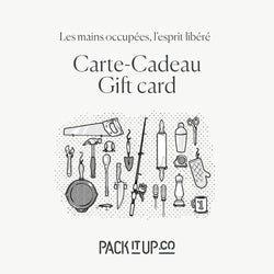 carte-cadeau Pack It Up