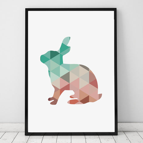 Geometric Bunny Canvas - Bunny Lovers