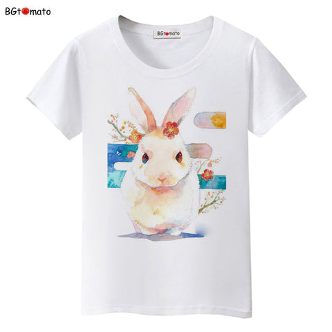 new rabbit lovely bunny t shirts woman's summer top - Bunny Lovers